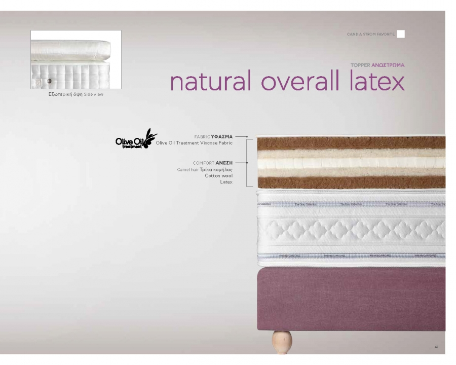 Ανώστρωμα NATURAL OVERALL LATEX